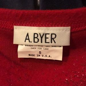 A. Byer Sweaters - Vintage red sparkly sweater